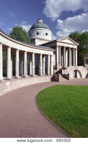 Colonnade In Park