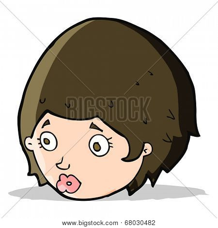 cartoon girl with concerned expression