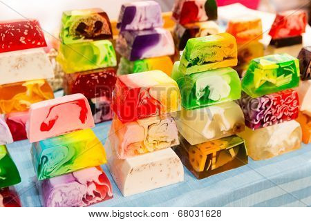 Background of color soaps