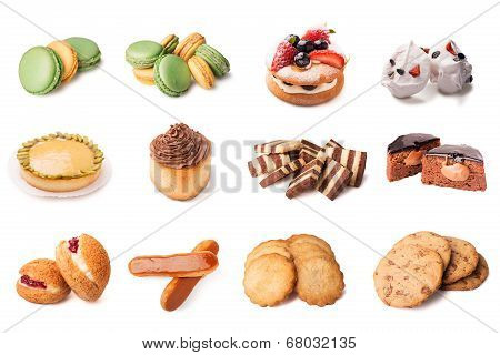Set of images of the cakes