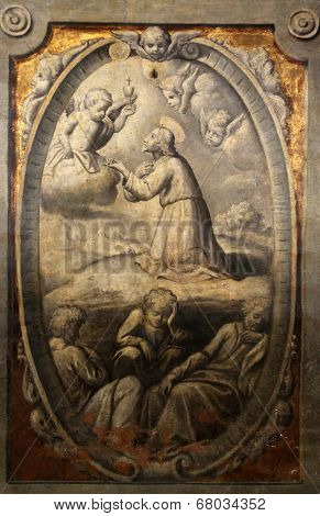 PARMA, ITALY - MAY 01,2014:Agony in the garden.Basilica Santa Maria della Steccata.Basilica is a Marian shrine made ??in Parma between 1521 and 1539 and in 2008 elevated to the rank of minor basilica