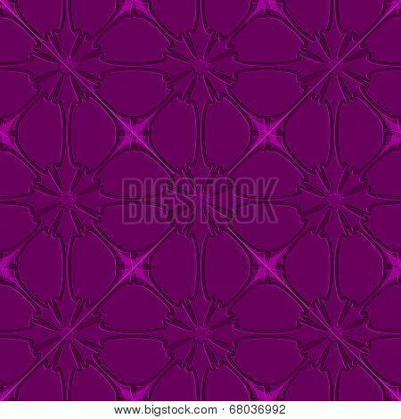 Purple Flourish Embossed Tile Ornament