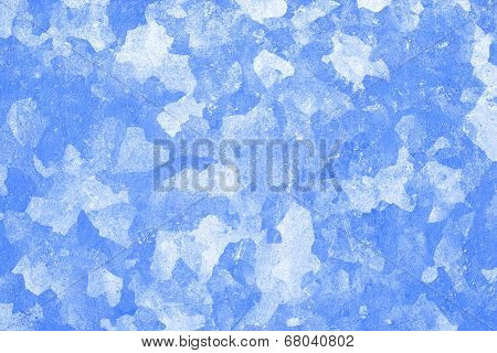 grunge background texture artistic stains and spots based on metal pattern in blue color