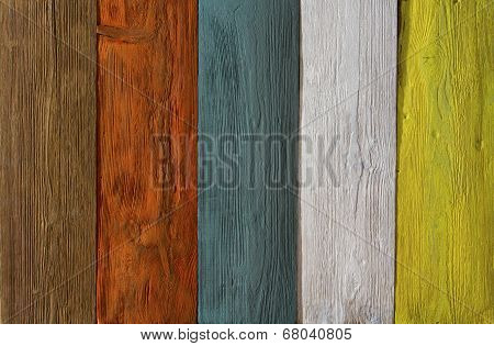 Wood Plank Colored Texture Background, Painted Wooden Floor, Wall Of Multicolor Board