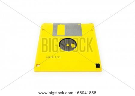GOMEL, BELARUS - MAY 23, 2014: FUJIFILM MF2HD floppy disk  on white background. Fujifilm Holdings Corporation,is a Japanese multinational photography and imaging company headquartered in Tokyo, Japan.