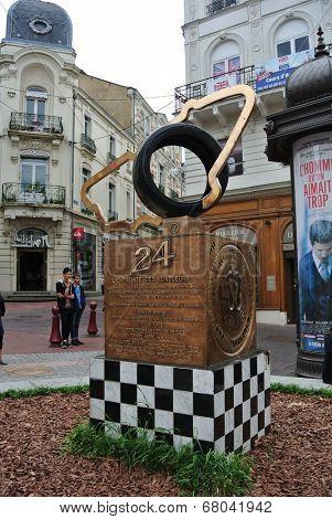 LE MANS,FRANCE,JULY 8: .(Sarthe, Pays de la Loire, France) - Monument of 24 Hours Le Mans Racing. July  8,2014 in Le Mans,France