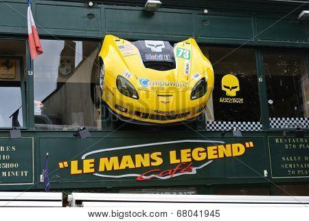 LE MANS,FRANCE,JULY 8: .(Sarthe, Pays de la Loire, France) -Le Man Legend Cafe. July  8,2014 in Le Mans,France