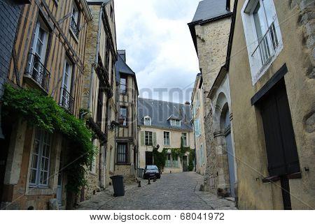 LE MANS,FRANCE,JULY 8: Historical area.(Sarthe, Pays de la Loire, France) - Buildings in the ancient city on July 8,2014 in Le Mans,France