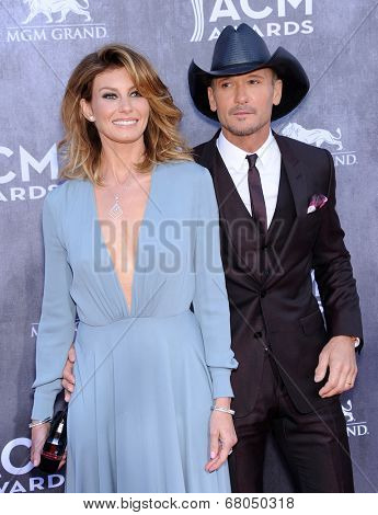 LOS ANGELES - APR 06:  Faith Hill & Tim McGraw arrives to the 49th Annual Academy of Country Music Awards   on April 06, 2014 in Las Vegas, NV.