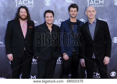LOS ANGELES - APR 06:  Eli Young Band arrives to the 49th Annual Academy of Country Music Awards   on April 06, 2014 in Las Vegas, NV.