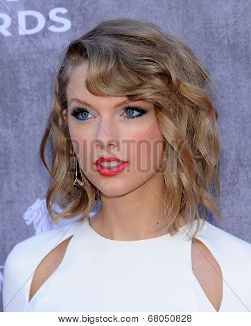 LOS ANGELES - APR 06:  Taylor Swift arrives to the 49th Annual Academy of Country Music Awards   on April 06, 2014 in Las Vegas, NV.