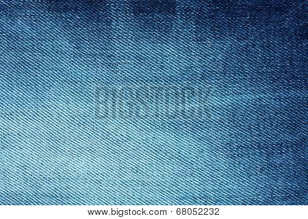 Background Of Bright Blue Denim With Stripes