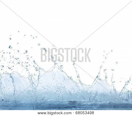 Splashing Clear Water On White Background Use For Refreshment And Cool Drinking Water Background