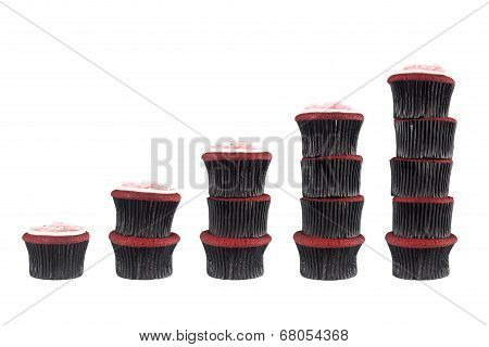 Different Stacks Of Muffins
