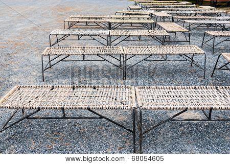 Row Of Steel Rope Chair