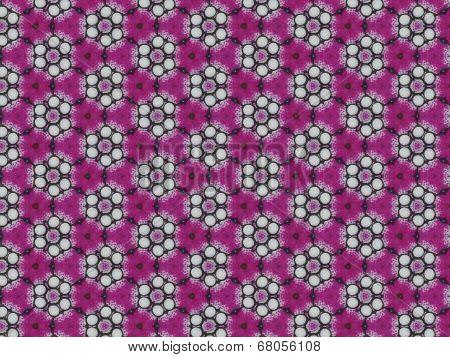 Dark pink flower pattern