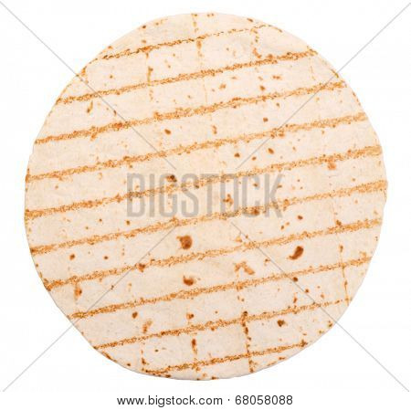 Tortilla wrap isolated on white background