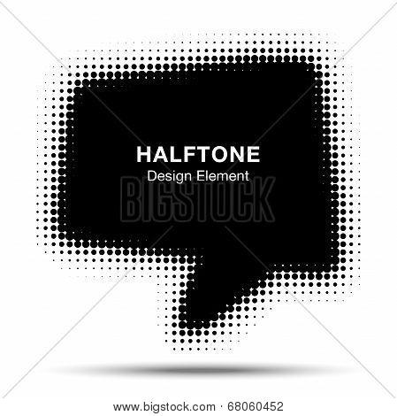 Bubble Halftone Design Element