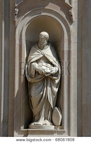 PARMA, ITALY - MAY 01,2014: St Benedict of Nursia, San Giovanni Evangelista is a church in Parma, northern Italy, part of a complex also including a Benedictine convent, Parma. Emilia-Romagna, Italy