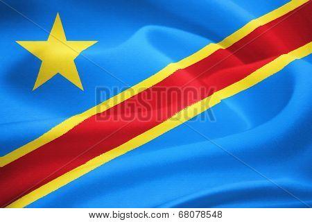 Flag Of The Democratic Republic Of The Congo