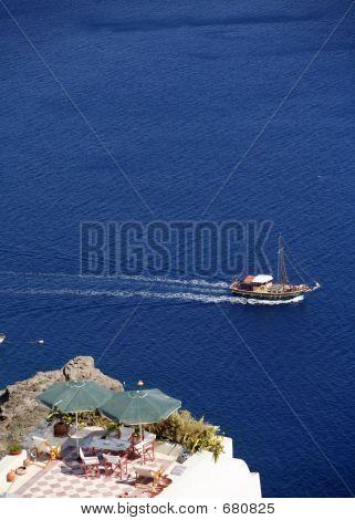 Pleasure Boat At Oia