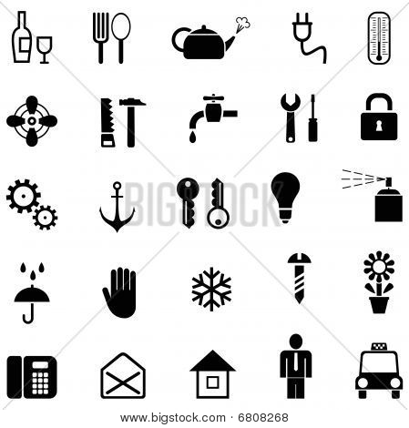 Set of household icons