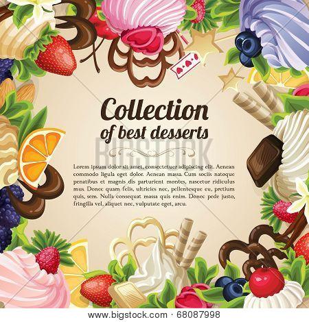 Sweets dessert frame