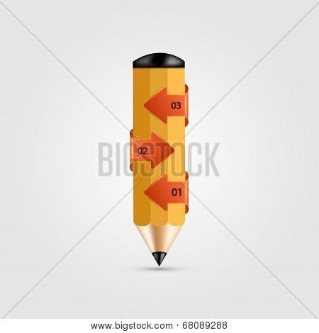 vector modern pencil infographics.
