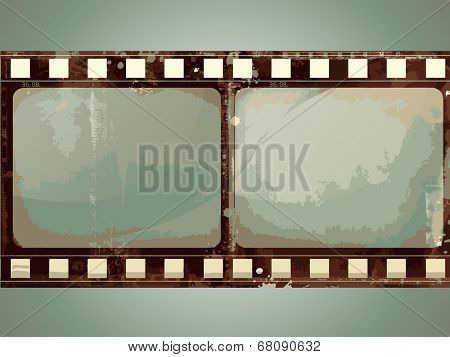 Editable vector grunge film frame background with space for your text or image. More images like this in my portfolio