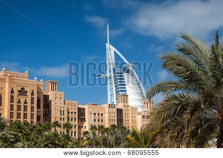 View Of The Souk Madinat Jumeirah.madinat Jumeirah Contain Two Hotels And Clus