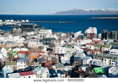 Birdeye View Of Reykjavik