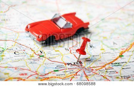Pilsen, Czech Republic  Map Car