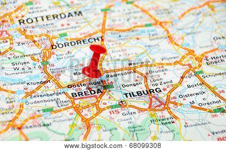 Breda,holland Map