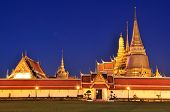 stock photo of buddha  - Wat Phra Kaew At Twilight - JPG