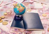 foto of citizenship  - The travel concept money - JPG
