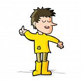foto of attitude boy  - cartoon poor boy with positive attitude - JPG
