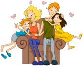 Mother Child Cartoon Images, Pictures and Photos Hugging Family Clipart