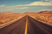 stock photo of prairie  - road in prairie - JPG