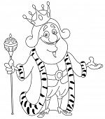 image of clip-art staff  - Outlined king - JPG