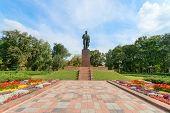 Taras Shevchenko Monument In Shevchenko Park, Kyiv, Ukraine poster