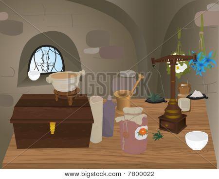 Medieval Pharmacy.