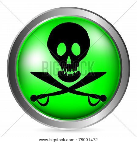 Jolly Roger Button