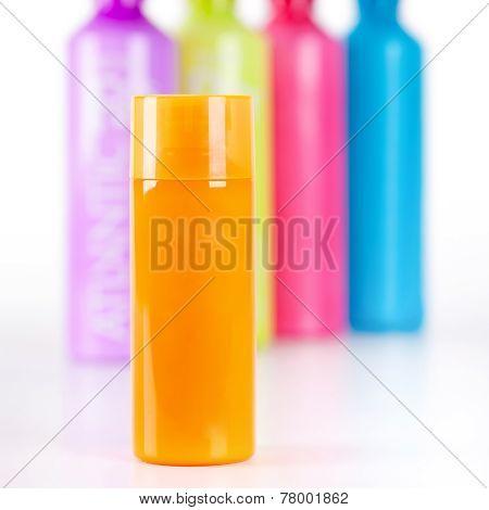 Multicoloured Lotion Bottles