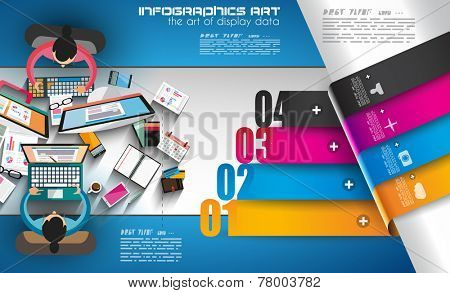 Infographic template with flat UI icons for ttem ranking. Ideal to use for marketing studies display, features ranking, strategy illustrations, seo optimization and social media.