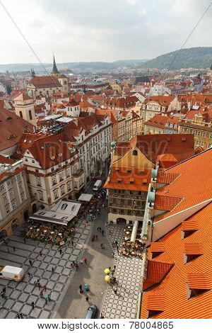 View Of Prague From A Height.