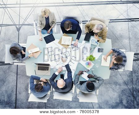 Brainstorming Planning Partnership Strategy Workstation Business Adminstratation Concept
