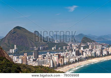 Rio de Janeiro Ipanema Beach Aerial View