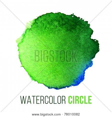 watercolor blot with type design