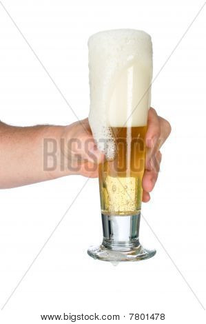 Man Holding Glass Of Beer