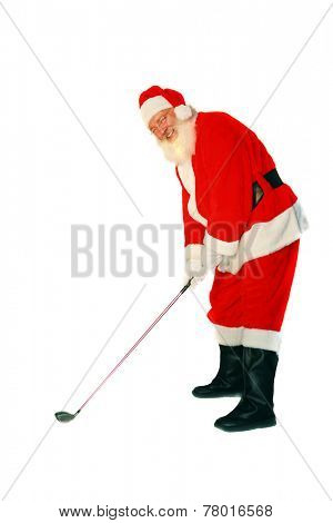 Santa Claus LOVES the game of Golf. Here is a Santa Joke for you to enjoy. Q. What is Santa's Favorite Golf Score? A. A HO HO HOLE IN ONE. Merry Christmas to all from Mike Ledray Stock Photographer.